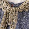 Left-Lefty платье с кружевным галстуком