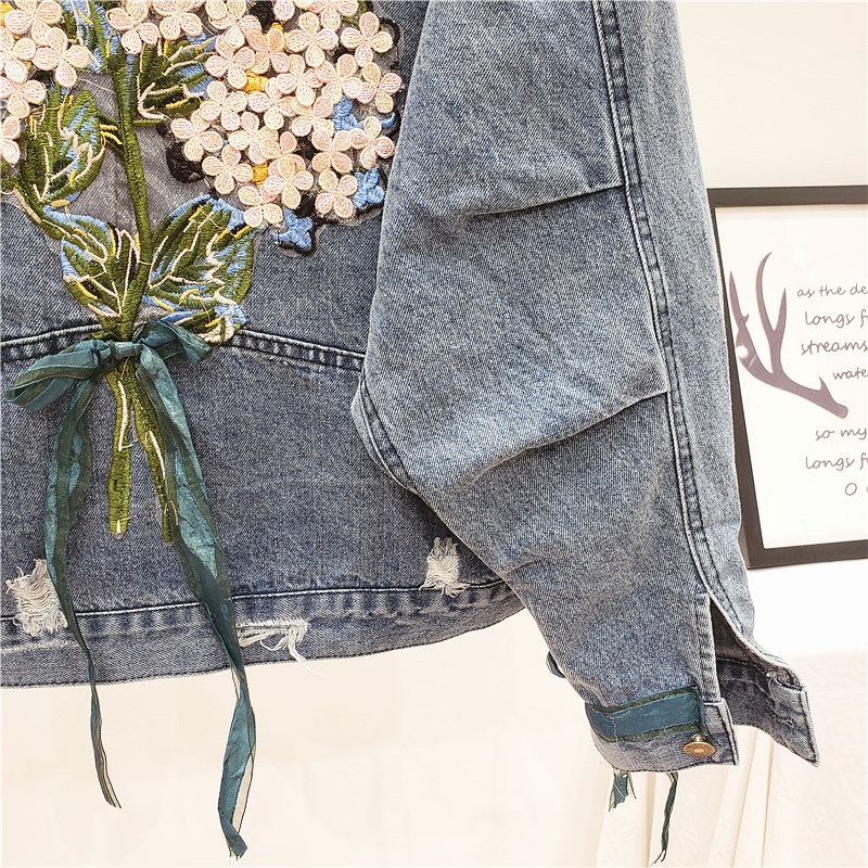 MUSI джинсовка с букетом на спине