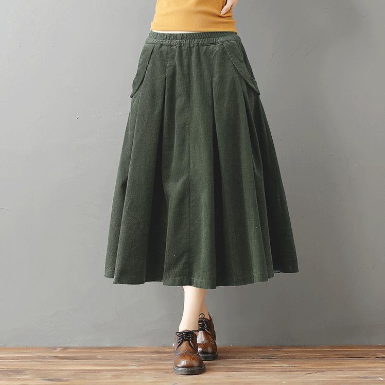 YT вельветовая юбка с карманами