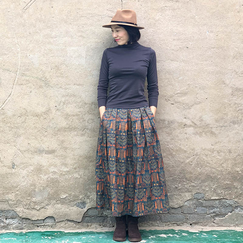 Lechang юбка с этно принтом