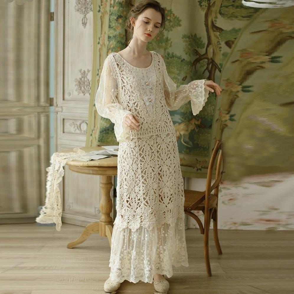 Liner кружевное винтажное платье