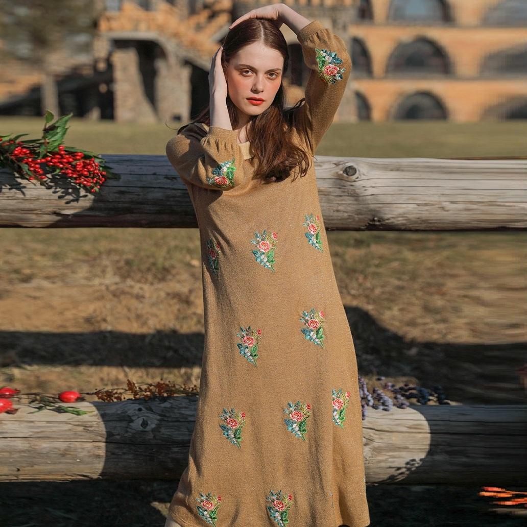 Liner мори платье с вышивкой