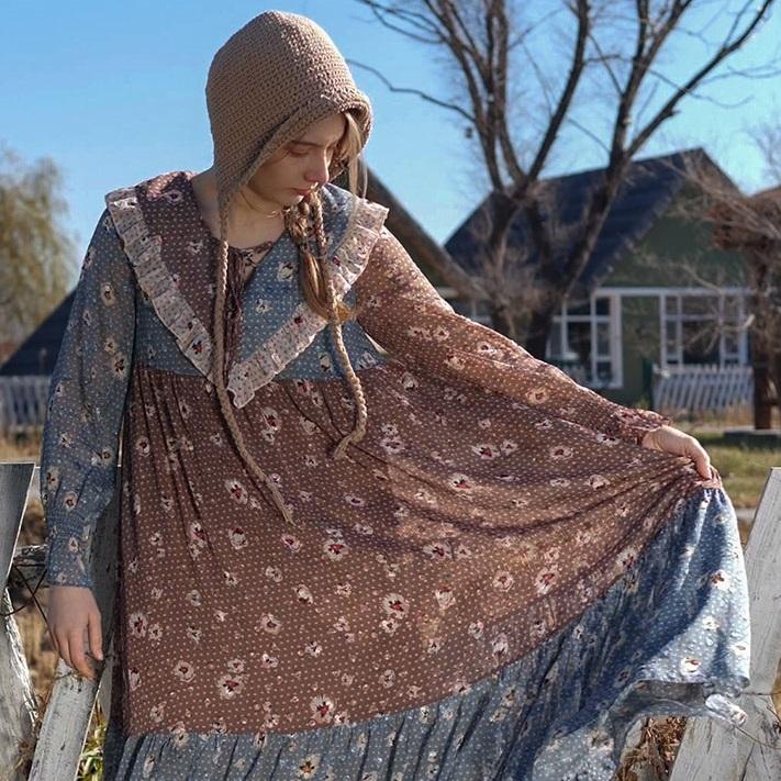 Liner шифоновое платье пэчворк