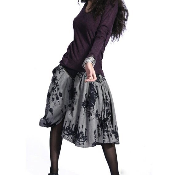 Artka юбка серая с узорами
