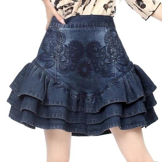 Artka джинсовая юбка с вышивкой (шоу-рум)