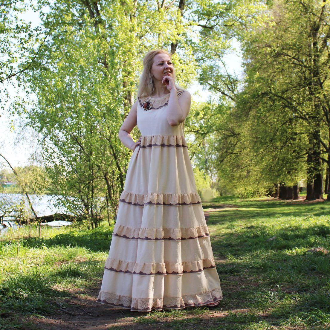 Nata Schu платье хлопковое в стиле бохо