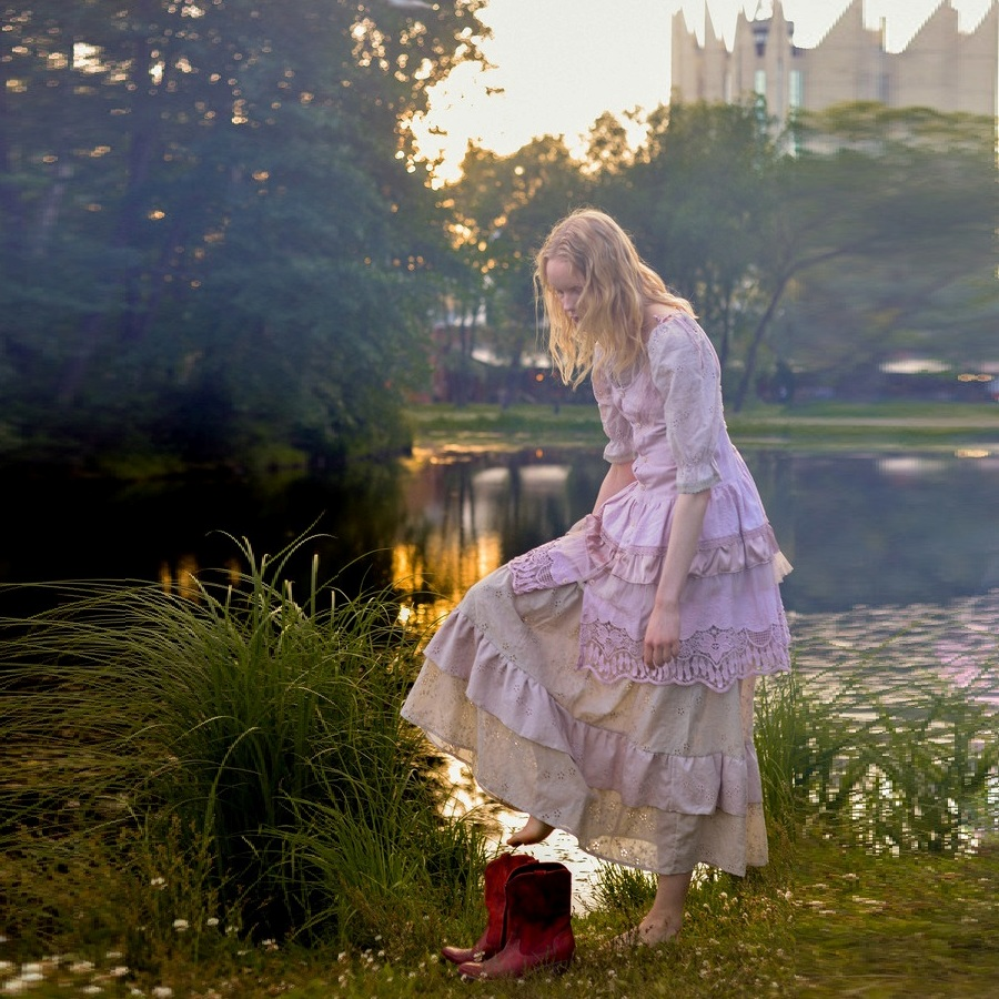 WonderMary юбка бохо пепельно-розовая