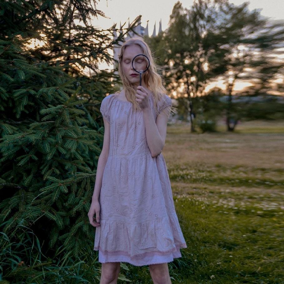 WonderMary нижнее платье пепельно-розовое