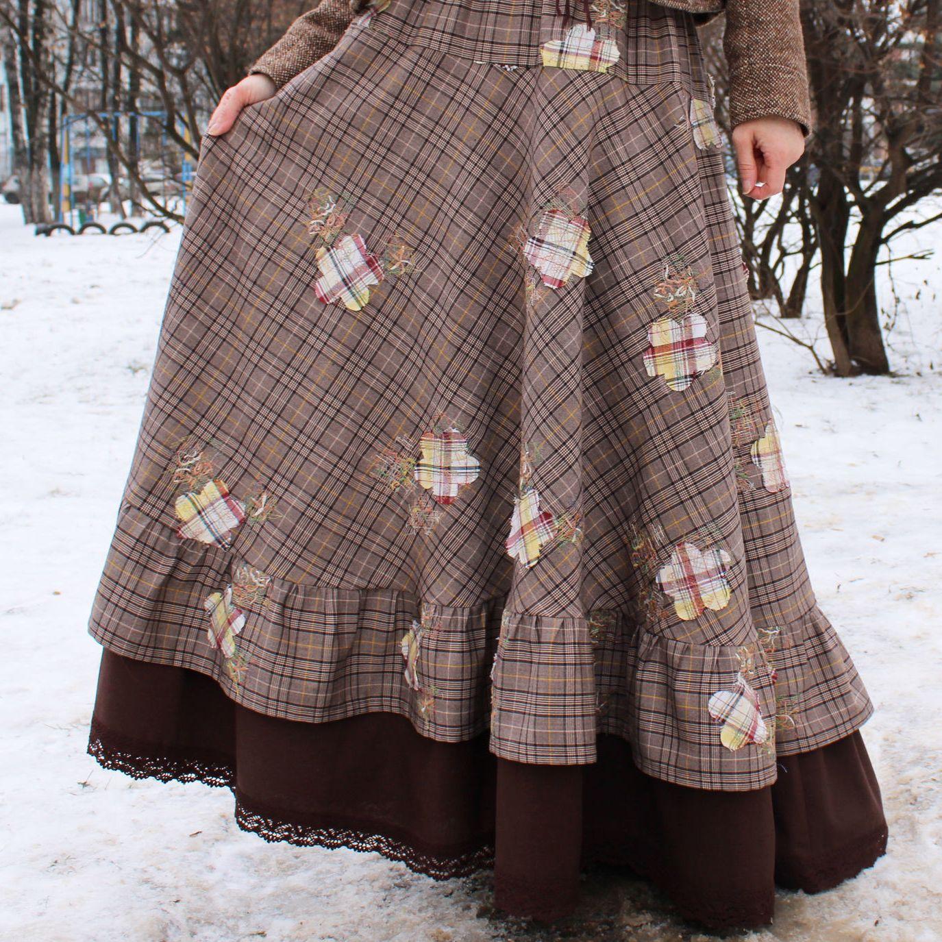 Nata Schu юбка двойная в стиле бохо