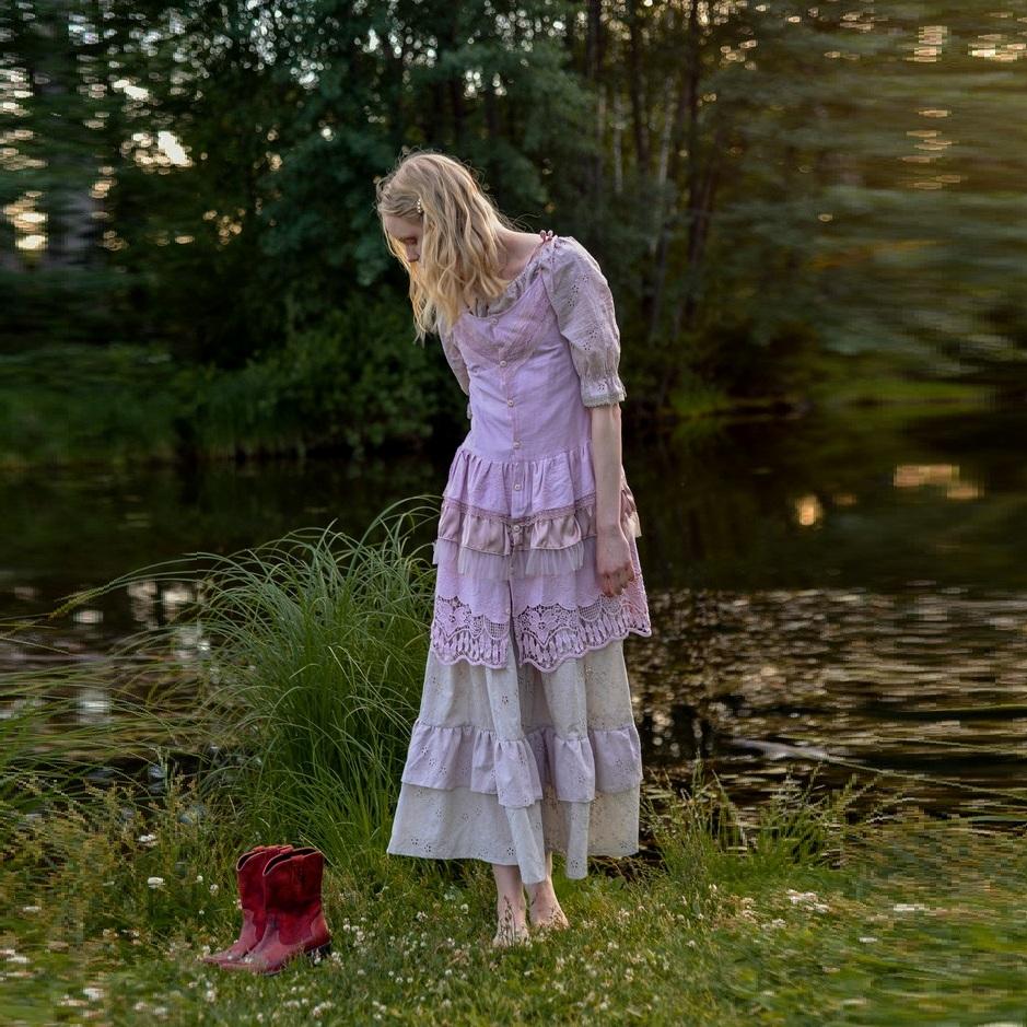 WonderMary туника розовая с кружевом