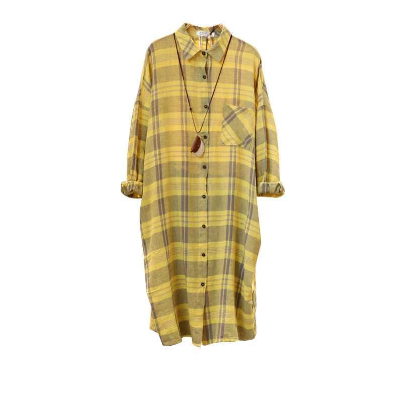 Жёлтая рубашка в клетку (шоу-рум)
