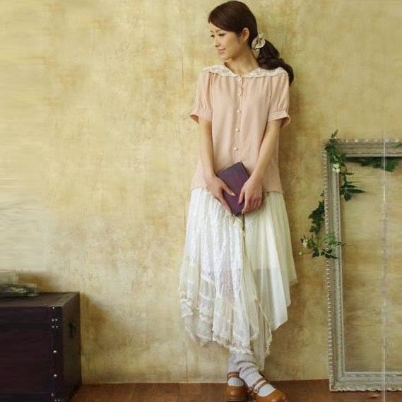 Mori girl кружевная юбка