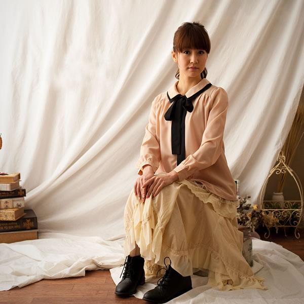 Mori girl юбка с асимметричным подолом