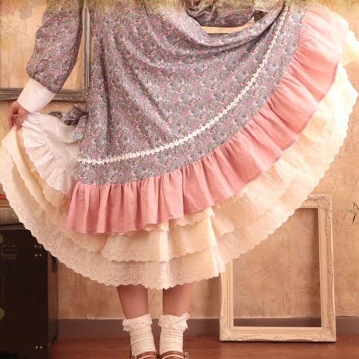 Mori girl нижняя юбка в мори стиле