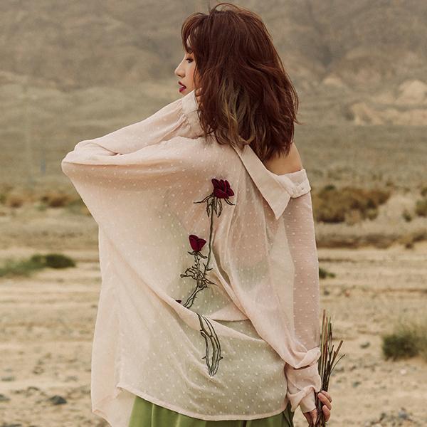 МОК рубашка с розами