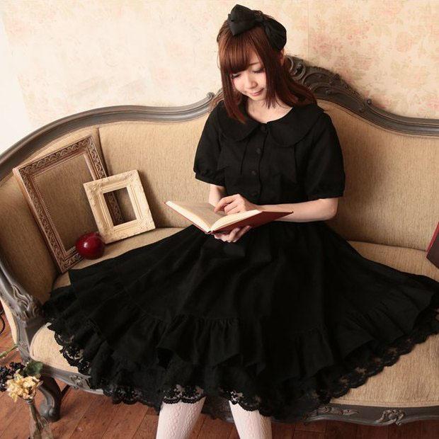 Mori girl чёрная нижняя юбка