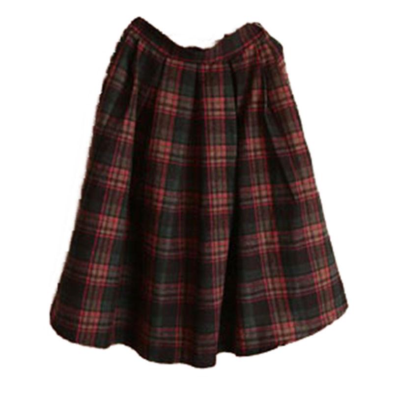 Mori girl ретро юбка в клетку