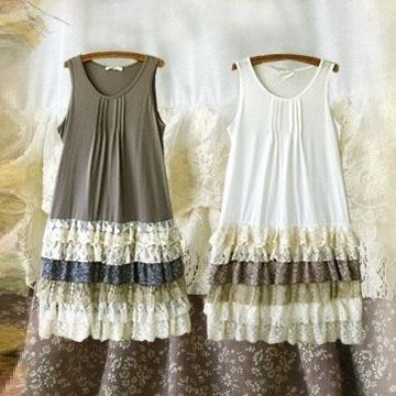 Mori girl платье с многослойной юбкой