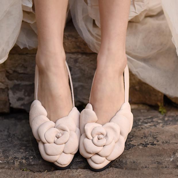 Artmu туфли с объёмным цветком