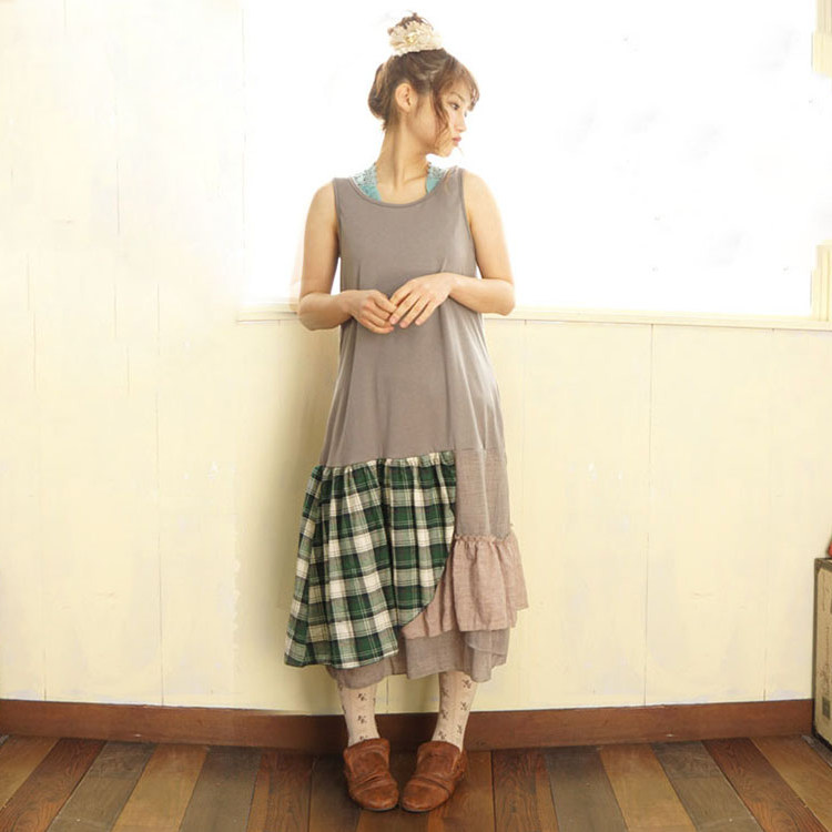 Mori girl платье миди с оборками