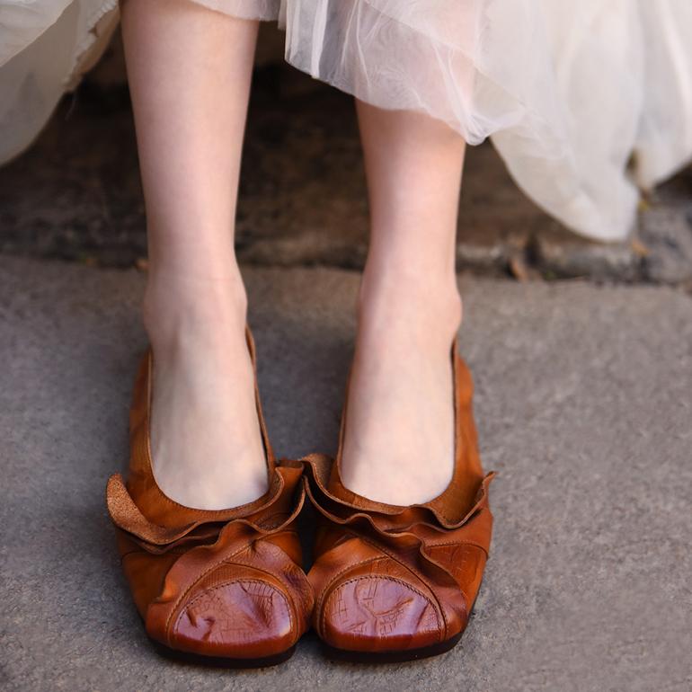 Artmu ретро-туфли с квадратным носком
