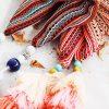 МОК этно шарф с кисточками