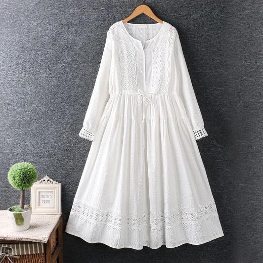 Хлопковое платье с кружевом (Серпухов)