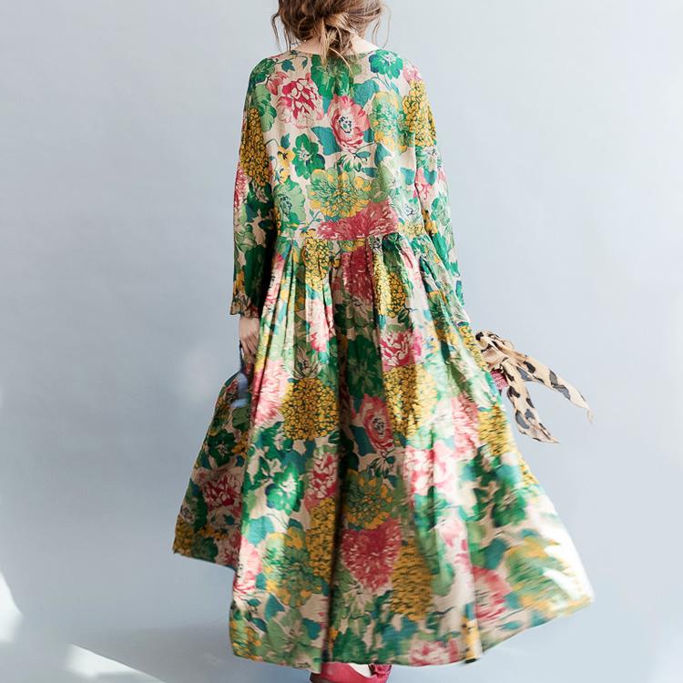 Цветочное длинное платье (Серпухов)