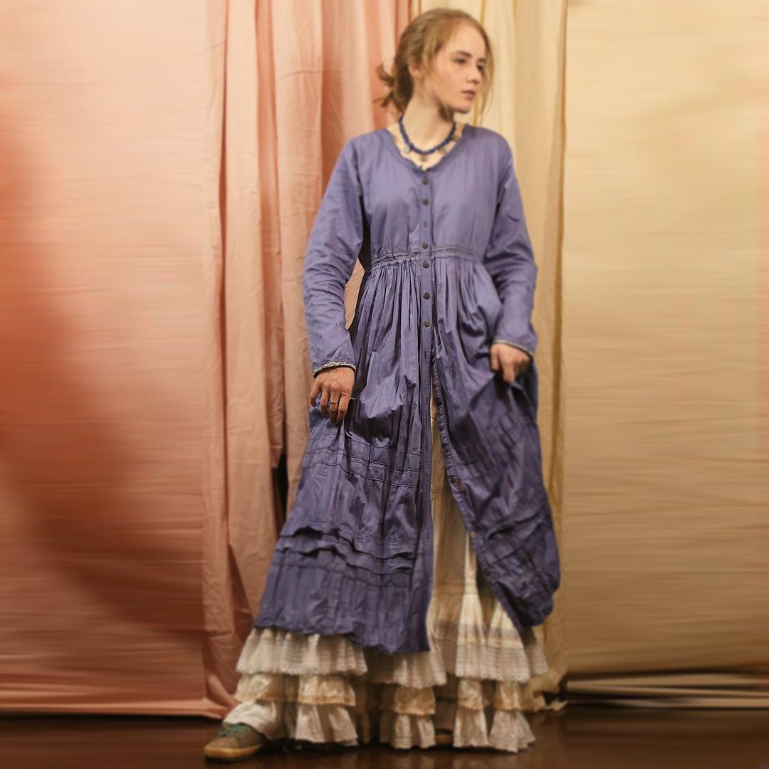Евдокия Прохорова платье-пыльник (Москва)