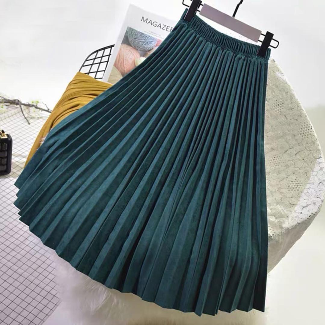 Цветные юбки под замшу