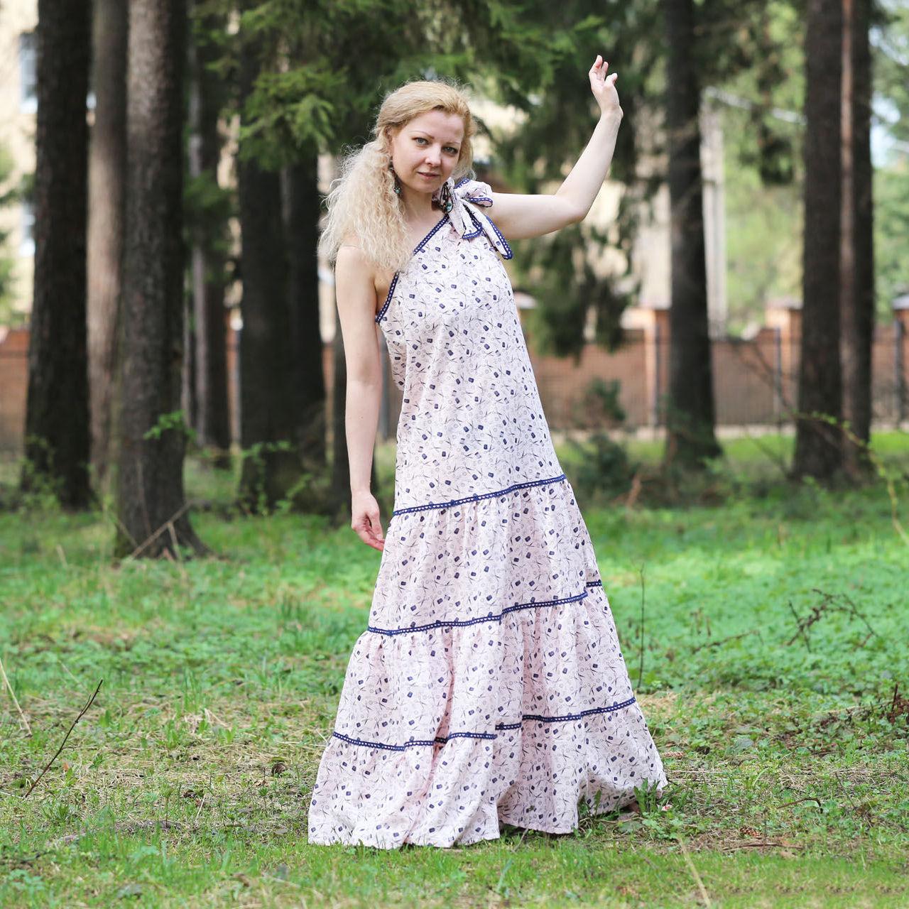 Nata Schu льняное летнее платье