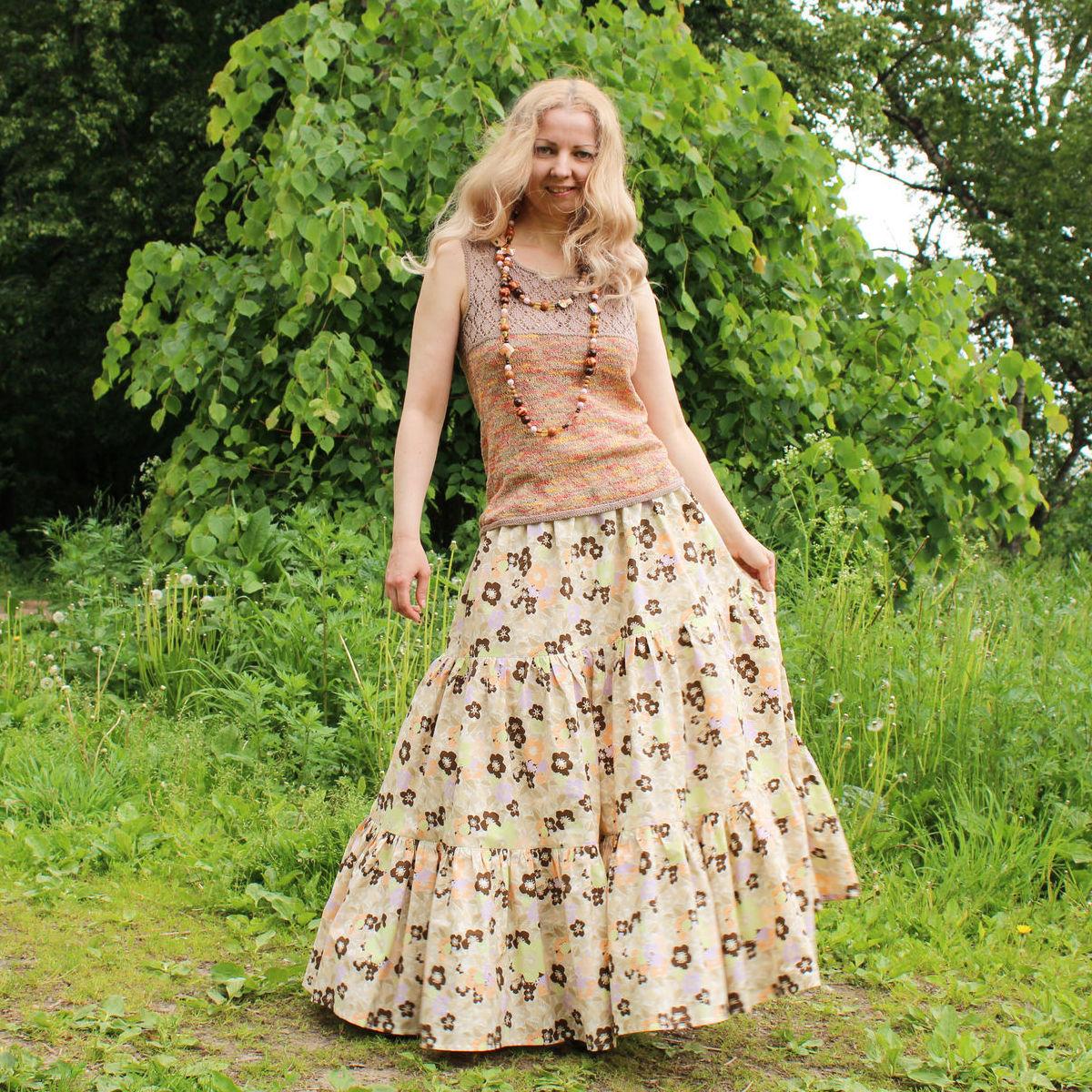 Nata Schu длинная юбка из хлопка