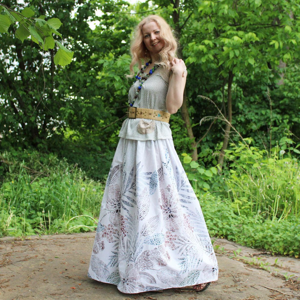 Nata Schu летняя юбка из хлопка