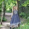 Nata Schu джинсовое платье в стиле бохо