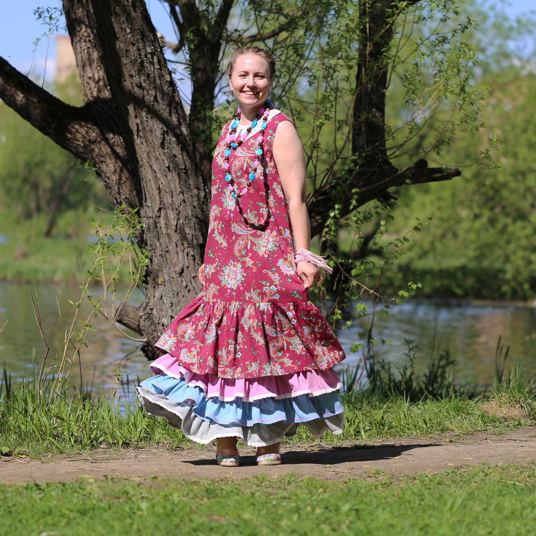 Nata Schu платье бохо-шик из хлопка
