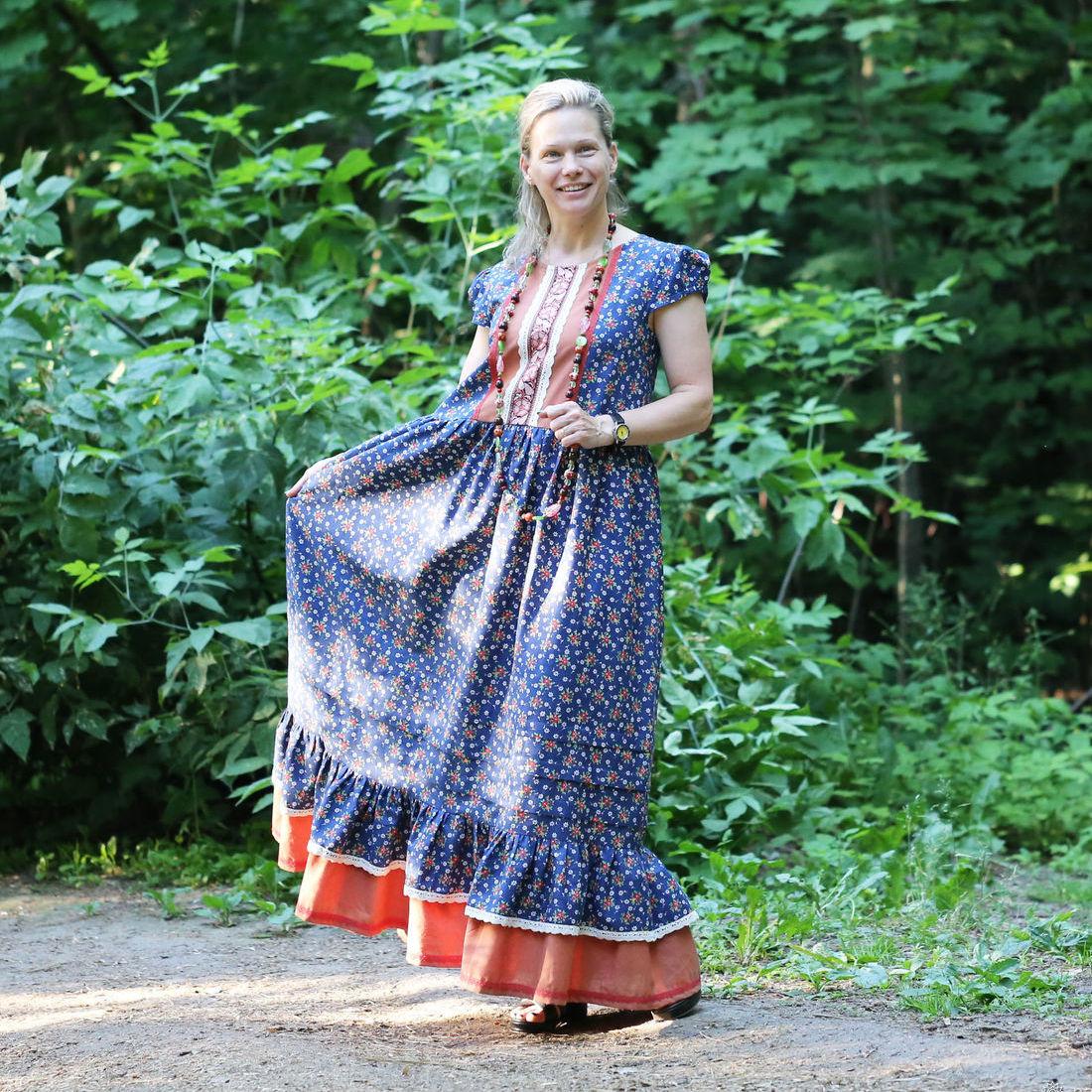 Nata Schu длинное платье в стиле бохо