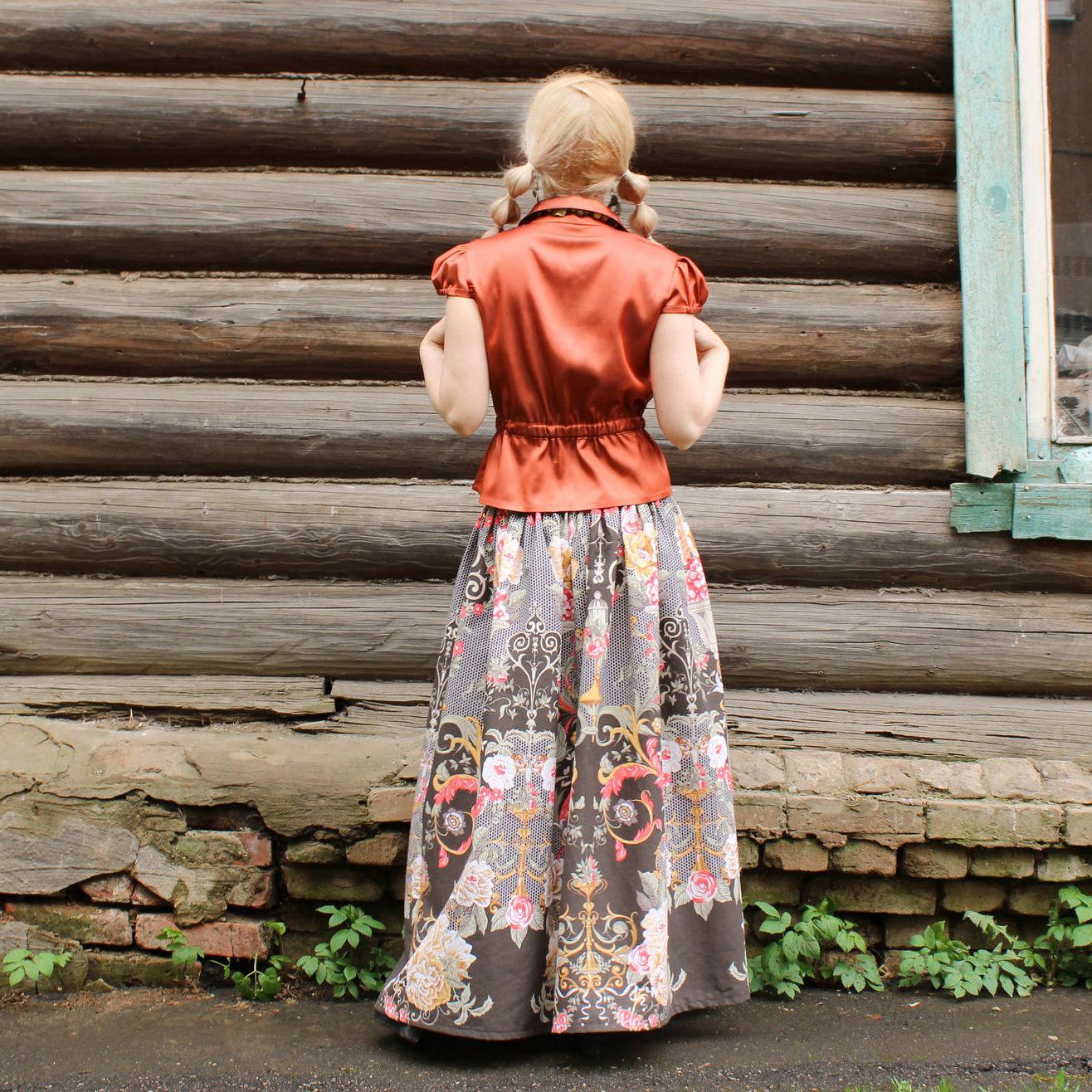 Nata Schu длинная летняя юбка