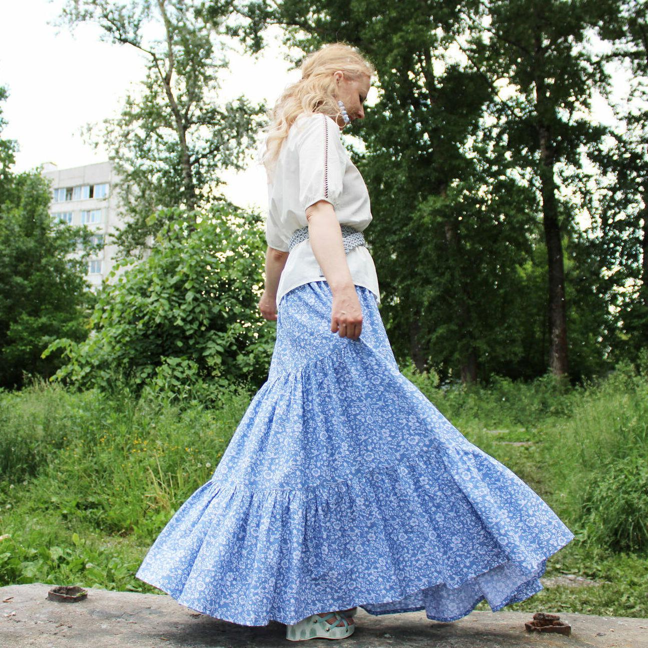 Nata Schu хлопковая летняя юбка