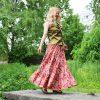 Nata Schu юбка макси из хлопка