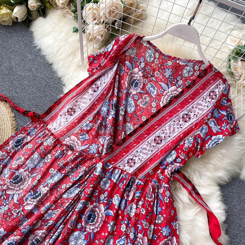 Платье на запахе с цветами (Серпухов)