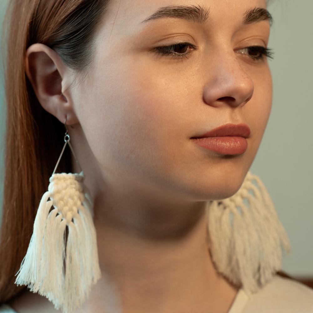 Naturalesya серьги белые (Москва)