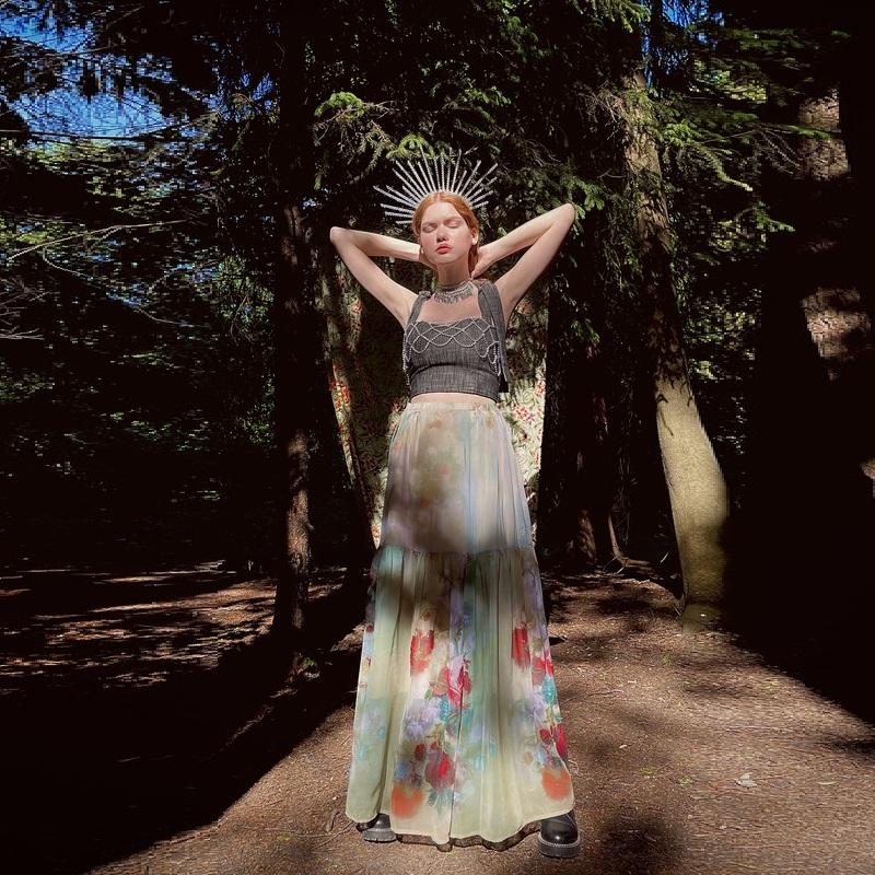 WonderMary юбка с акварельным принтом (Москва)