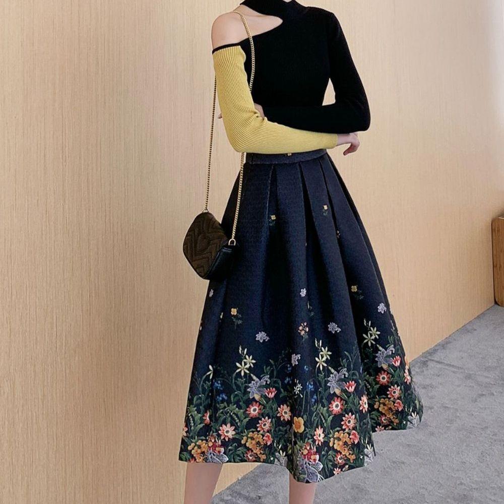 Ретро-юбка с цветами (Серпухов)