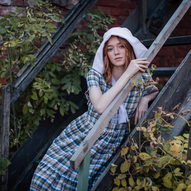WonderMary платье макси в клетку (Москва)
