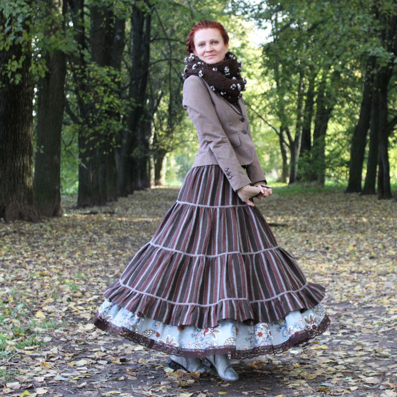 Nata Schu юбка длинная на осень-зиму