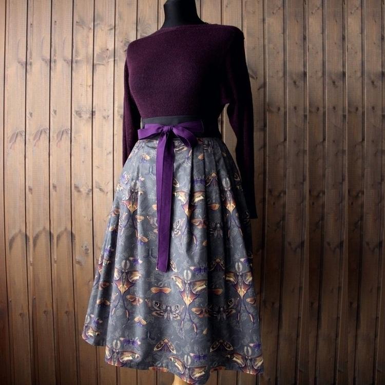 """Ведь.Мы юбка на осень с принтом """"Бабочки"""""""